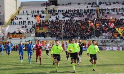 Il match del febbraio scorso tra Messina e Paganese