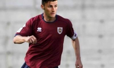 Luca Giannone in azione con la Reggiana