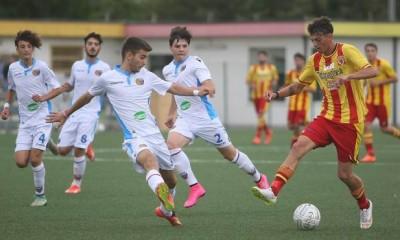 Un'immagine tratta dal match di andata tra Catania e Benevento