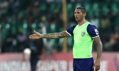 Chennaiyin FC coach Marco Materazzi react during match 53 of the Hero Indian Super League between Chennaiyin FC and Delhi Dynamos held at the Jawaharlal Nehru Stadium, Chennai, India on the 9th December 2014.  Photo by:  Deepak Malik/ ISL/ SPORTZPICS